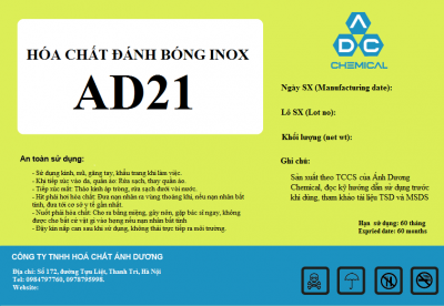 Hóa chất đánh bóng inox AD21