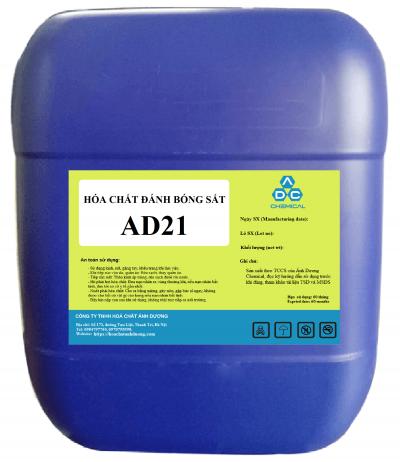 Dung dịch đánh bóng sắt AD21 là một dạng hóa chất xử lý bề mặt kim loại