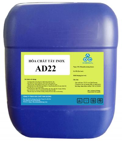 hóa chất tẩy inox, thép không gỉ AD22. Nó có khả năng đánh bóng nhẹ