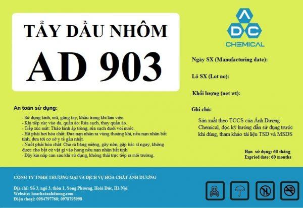 tẩy dầu axit nhôm AD 903 phục vụ cho sơn tĩnh điện