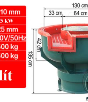 máy rung bóng 450 lít có tác dụng rung tẩy dầu