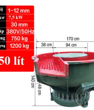 máy đánh bóng rung 650 lit